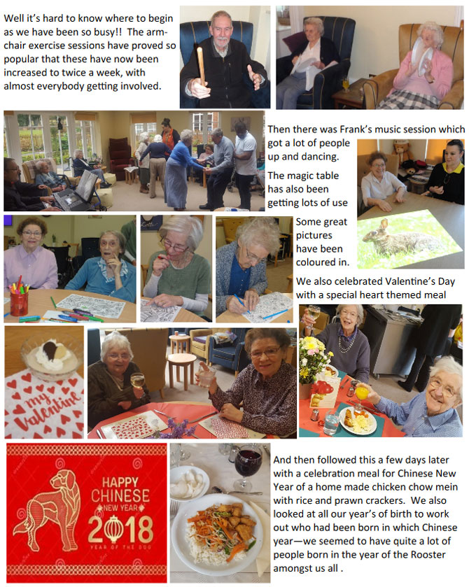 Care Home Activities March 2018