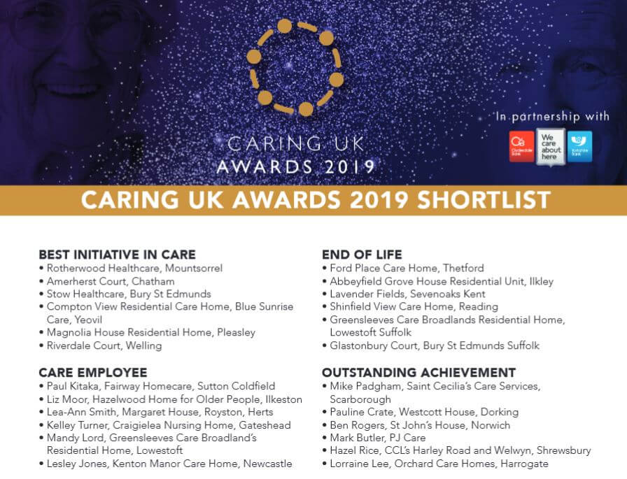 Lea-Ann finalist for Caring UK Awards 2019