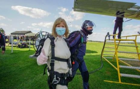 Our Amazing Care Manager completes Charity Parachute Jump