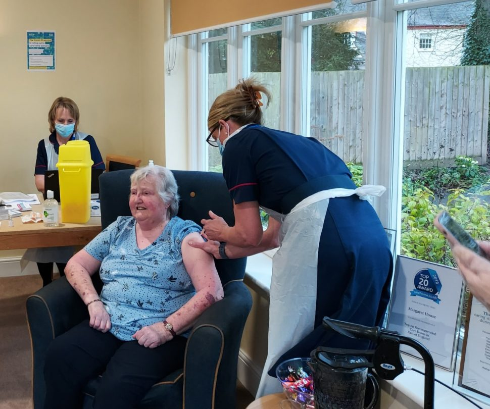 Inside a care home as the vaccine is rolled out